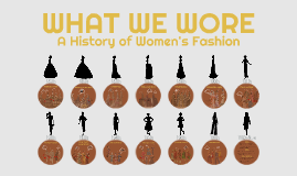 WHAT WE WORE: A HISTORY OF WOMEN'S FASHION