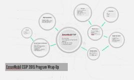 ExxonMobil CSJP 2015 Program Wrap-Up