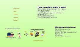 Water Usage & Sustenance