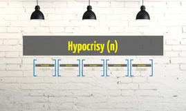 Hypocrisy (n)