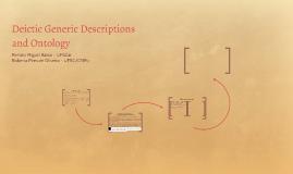 Deictic Generic Descriptions and Ontology