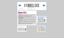 Copy of R V MORELLI CASE