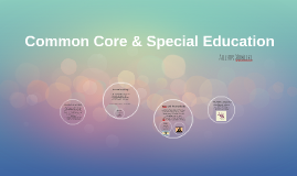 Common Core & Special Education