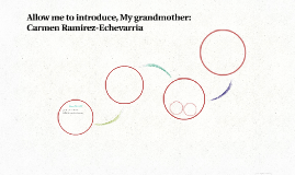 Allow me to introduce, My grandmother: Carmen Ramirez-Echeva