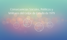Consecuencias Sociales, Políticas y Militares del Golpe de E