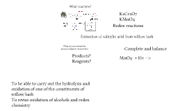 Copy of Extraction of salicylic acid from willow bark