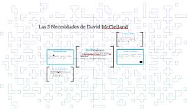 Las 3 Necesidades de David McClelland