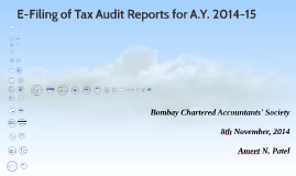 E-Filing of Tax Audit Report