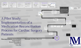 Pilot Medication Reconciliation Program for Cardiovascular S