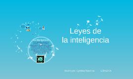 Leyes de la inteligencia