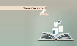 Grammatiske særtrekk ved norsk språk