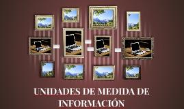 UNIDADES DE MEDIDA DE INFORMACION
