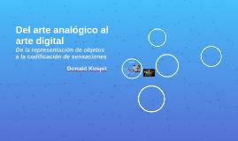 Del arte analógico al arte digital