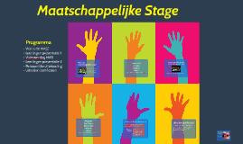 Maatschappelijke Stage 2015-2016