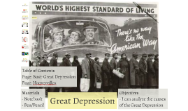 Bust: Great Depression
