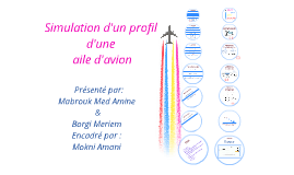 Copy of Simulation d'un profil d'une aile d'avion