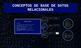 Base de Datos relacionales