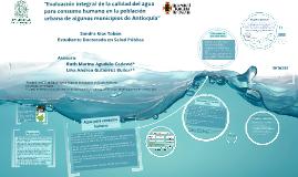 """""""Evaluación integral de la calidad del agua para consumo hum"""