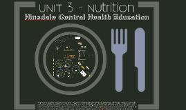 Unit 3 - Nutrition