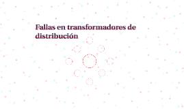 Fallas en transformadores de distribución