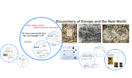 Encounters of Europe and the New World