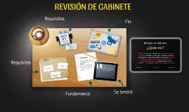REVISIÓN DE GABINETE