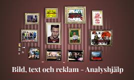 2. Bild, text och reklam - Analyshjälp