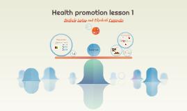 Health promotion lesson 1
