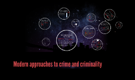 Modern approaches to crime and criminality
