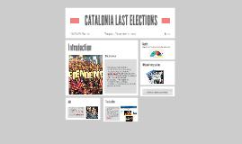 CATALONIA LAST ELECTIONS