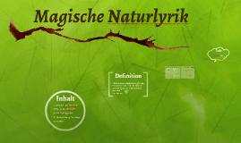 of Magische Naturlyrik