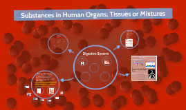 Substances in Human organs, tissues and mixtures