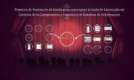 Proyecto de seminario de graduacion para optar al titulo de