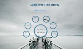 Subjective Time Survey