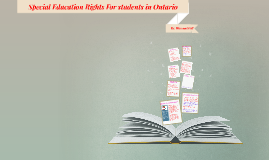 Special Education Rights For students in Ontario