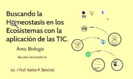 Copy of Buscando la Homeostasis en los Ecosistemas con la aplicación