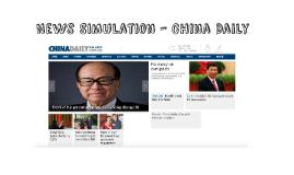 News Simulation - China Daily