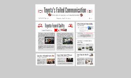 Toyota's Failed Communication