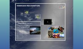 HAWAIIAN RECOGNITION