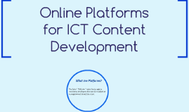 Copy of Online Platforms