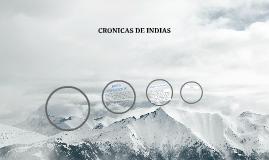 CRONICAS DE INDIAS