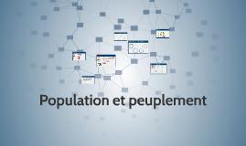 Copy of Population et peuplement