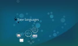 Copy of Tone languages