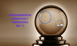 ARRENDAMIENTOS OPERATIVOS Y FINANCIEROS NIC 17
