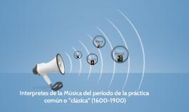 La música y sus interpretes