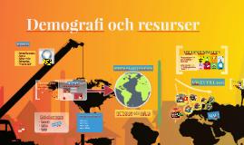 Demografi och naturresurser