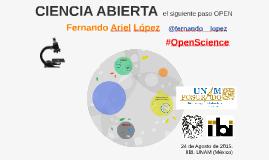 Ciencia Abierta: el siguiente paso OPEN