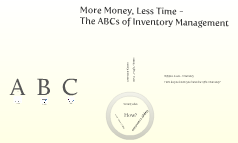 More Money Less Time - The ABCs of Inventory Management