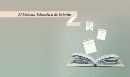 El Sistema Educativo de Españ