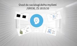 úvod k Úvodu do sociologického myšlení